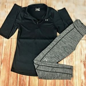Under Armour Woman's 1/4 Zip Pull Over w/Leggings